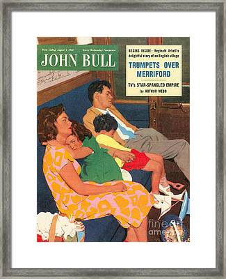John Bull 1950s Uk Holidays  Trains Day Framed Print by The Advertising Archives