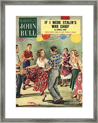 John Bull 1950s Uk  Line Country Square Framed Print