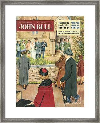 John Bull 1950s Uk Love Marriages Framed Print by The Advertising Archives
