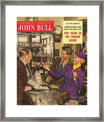 John Bull 1950s Uk Love Rings Weddings Framed Print