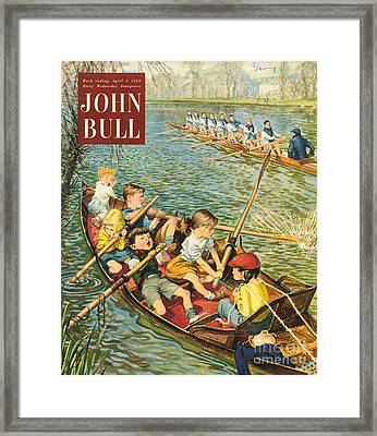 John Bull 1950s Uk Rowing Training Framed Print