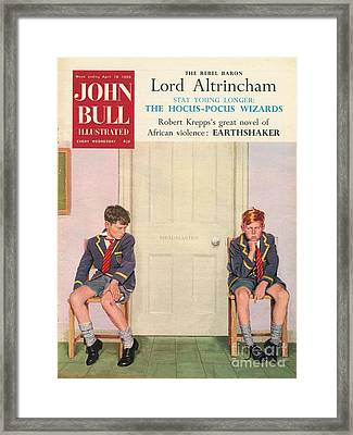 John Bull 1950s Uk Schools Magazines Framed Print by The Advertising Archives