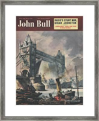 John Bull 1951 1950s Uk Tower Bridge Framed Print by The Advertising Archives