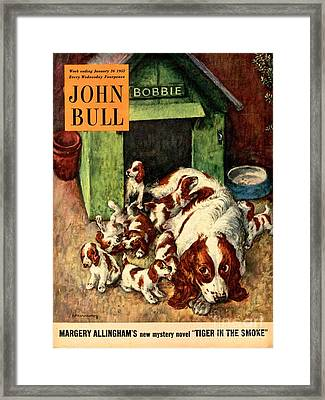 John Bull 1952 1950s Uk Dogs Puppies Framed Print by The Advertising Archives
