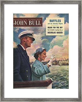 John Bull 1954 1950s Uk Queen Elizabeth Framed Print by The Advertising Archives