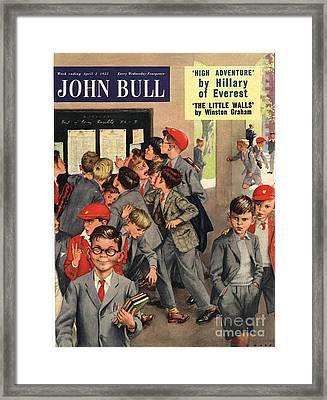John Bull 1955 1950s Uk Schools Swots Framed Print by The Advertising Archives