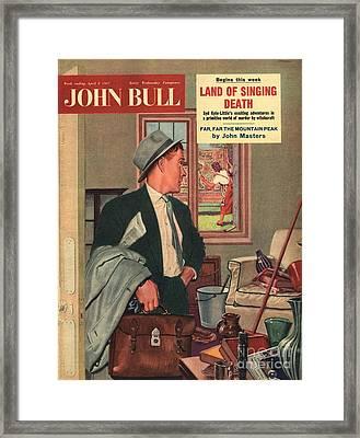 John Bull 1957 1950s Uk Cleaning Framed Print by The Advertising Archives