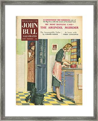 John Bull 1959 1950s Uk Cooking Framed Print by The Advertising Archives