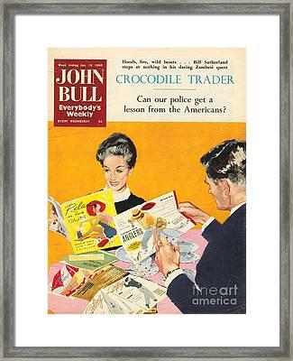 John Bull 1960s Uk Holidays Brochures Framed Print by The Advertising Archives