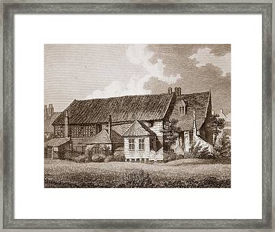 John Bunyans Meeting House, Early 19th Framed Print
