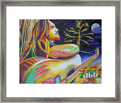 John Butler And Moon Framed Print by Joshua Morton