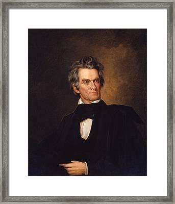 John C Calhoun  Framed Print by War Is Hell Store