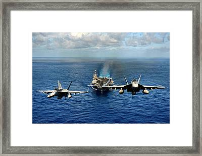 John C. Stennis Carrier Strike Group Framed Print by Mountain Dreams