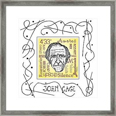 John Cage Framed Print by Paul Helm