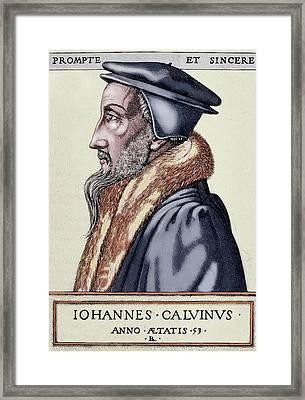 John Calvin (1509-1564 Framed Print by Prisma Archivo