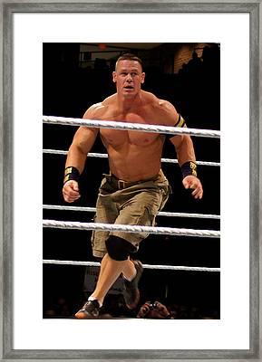 John Cena In Action Framed Print