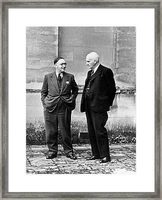John Cockroft And Frederick Lindemann Framed Print