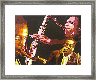 John Coltrane A Love Supreme Framed Print by Ronald Young
