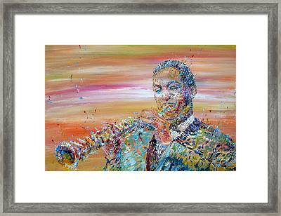John Coltrane Framed Print by Fabrizio Cassetta