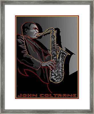 John Coltrane Jazz Saxophone Legend Framed Print by Larry Butterworth
