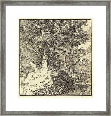 John Crome, British 1768-1821, Tree On A Mound Framed Print by Litz Collection