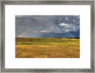 John Deer At The End Of The Rainbow Framed Print