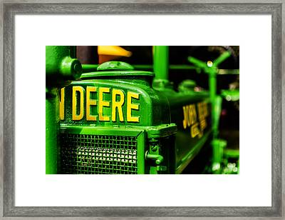 John Deere 1935 General Purpose Tractor Grill Detail Framed Print by Jon Woodhams
