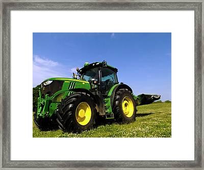 John Deere 6210r Tractor Framed Print