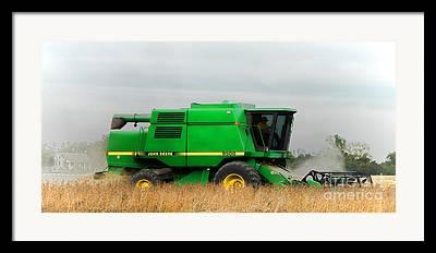 Combine Harvester Framed Prints