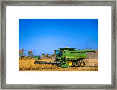 Framed Print featuring the photograph John Deere 9770 by Olivier Le Queinec