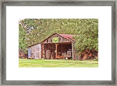 John Deere Barn Framed Print by Scott Pellegrin