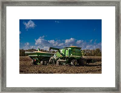 John Deere Combine 9770 Framed Print