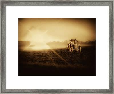 John Deere Glow Framed Print by Kelly Reber