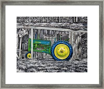 John Deere Green Framed Print by Craig T Burgwardt