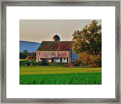 John Deere Green Framed Print