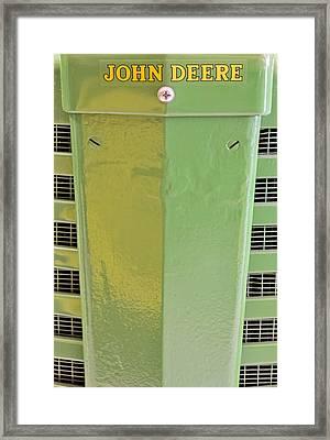 John Deere Grill Framed Print