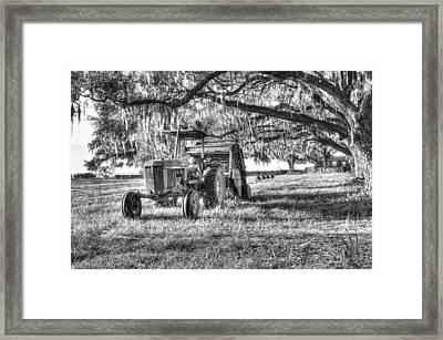 John Deere - Hay Bailing Framed Print