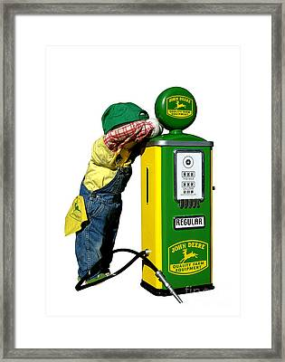 John Deere Kid Framed Print