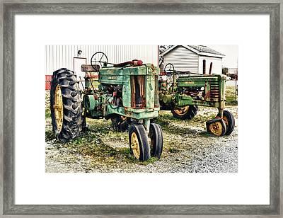 John Deere Past Framed Print by Kelly Reber