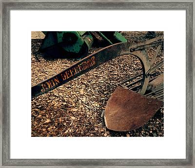 John Deere Shaker-digger - Vintage Plow Framed Print