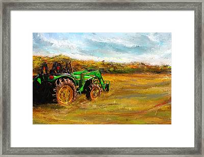 John Deere Tractor- John Deere Art Framed Print by Lourry Legarde