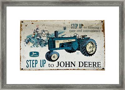 John Deere Tractor Sign Framed Print