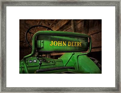 John Deere Tractor Framed Print by Susan Candelario