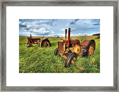 John Deere Tractors I - Blue Ridge Framed Print