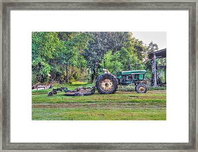 John Deere - Work Day Framed Print