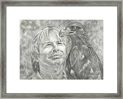 John Denver And Friend Framed Print