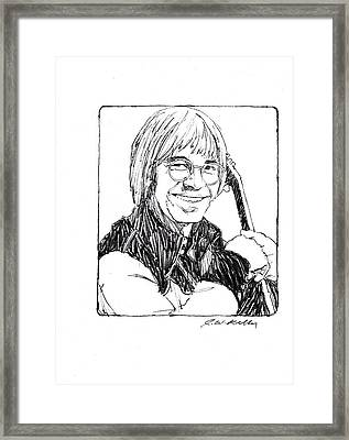 John Denver Framed Print by J W Kelly