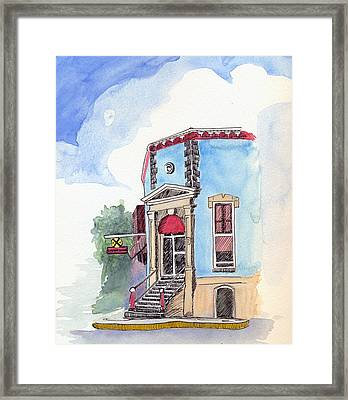 Framed Print featuring the painting John Dillinger Was Here by Katherine Miller