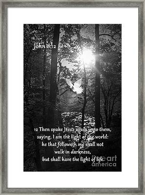 John Eight Twelve Framed Print
