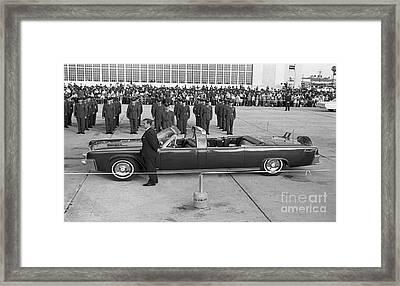 John F. Kennedy, 1963 Framed Print by Larry Mulvehill